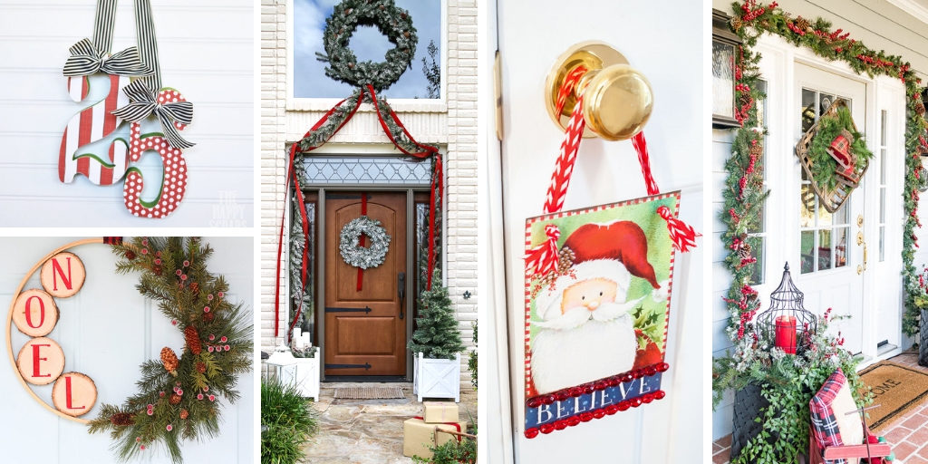 Decorate your front door for Christmas