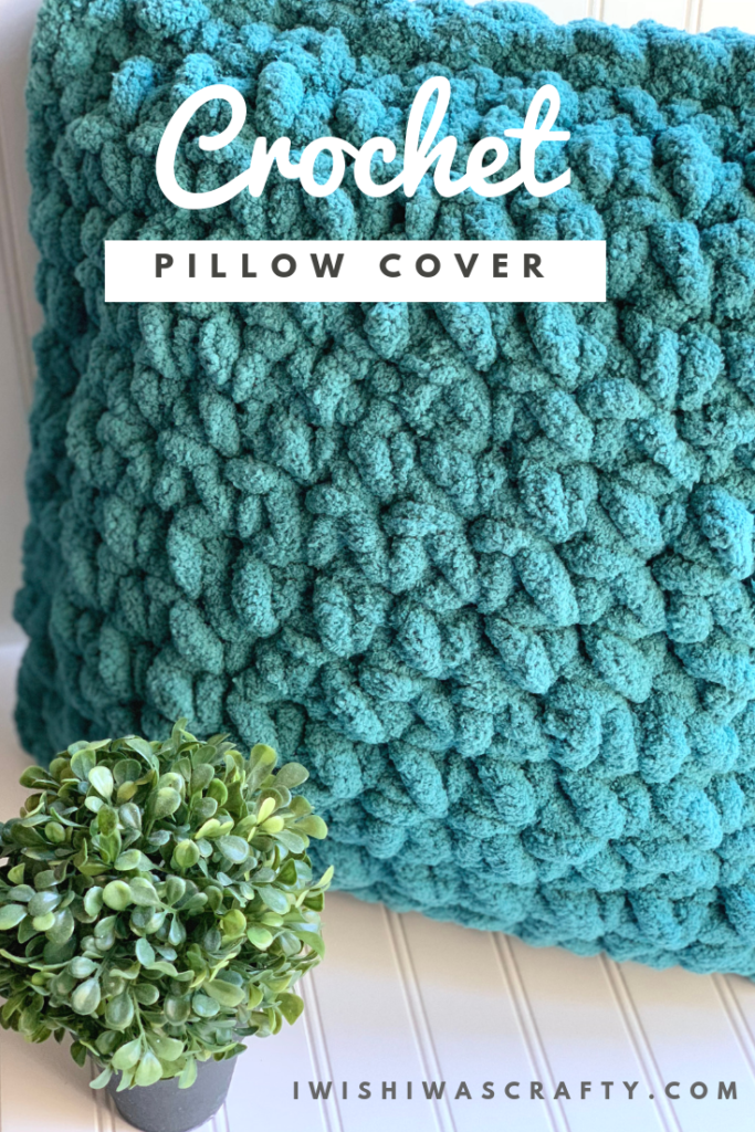 I love this simple crochet pillow cover.