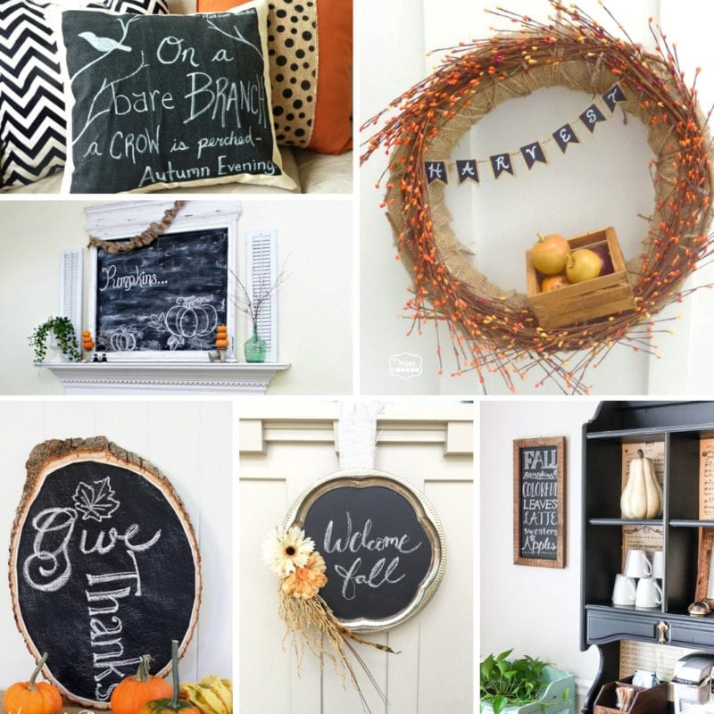 Fall Decor from DIY Chalkboards!