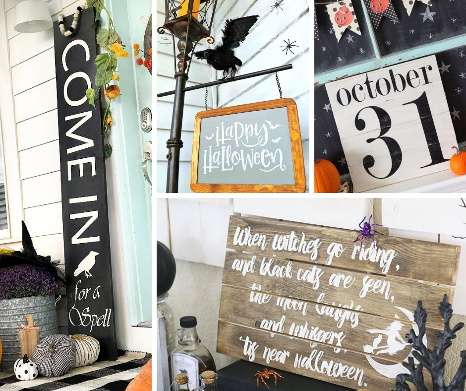 Fall Signs to celebrate Halloween