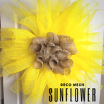 Mesh Sunflower Wall Decor Tutorial