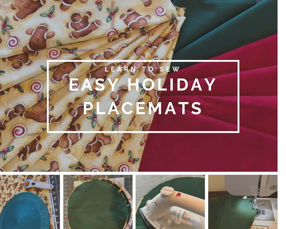 Grab this easy holiday placemat pattern for a quick way to update your Christmas table!