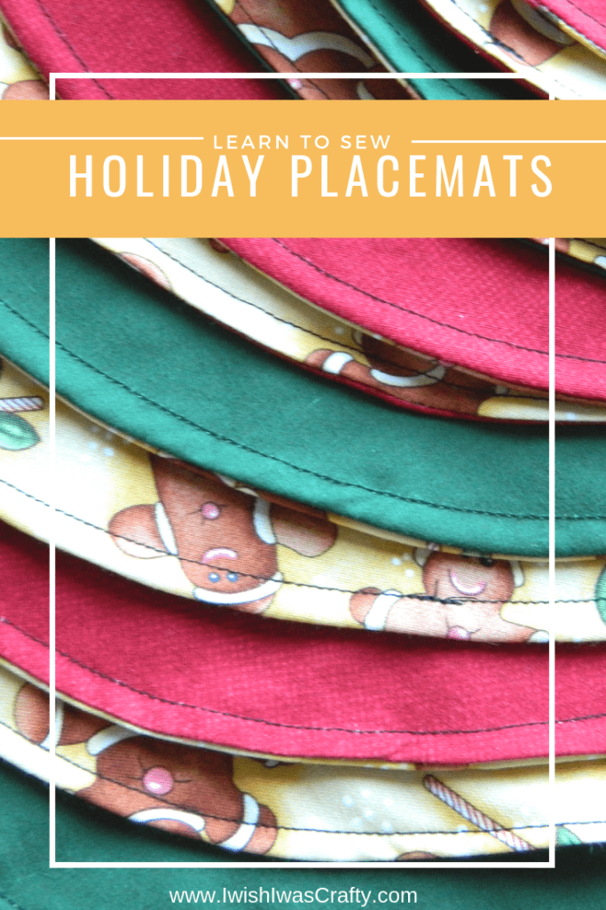 These easy holiday placemats are great holiday decor that are easy enough for beginners and don't cost a lot!