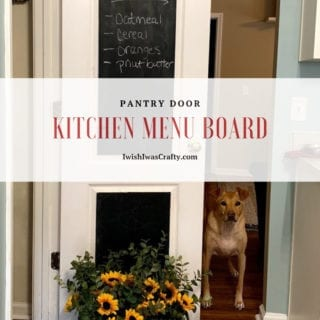 Kitchen Menu Board DIY