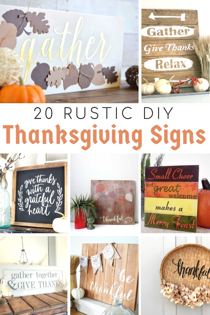 Rustic DIY THanksgiving Signs