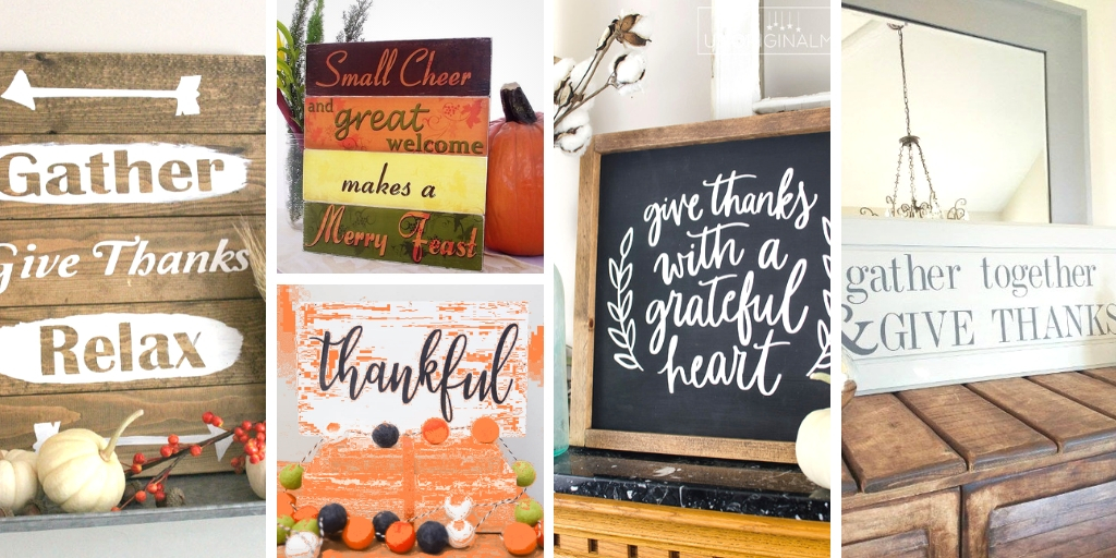 Make your own Thanksgiving Signs!