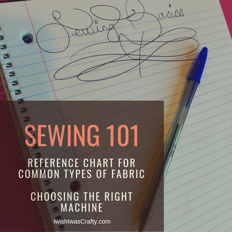 Sewing 101 - Choosing Fabric and Selecting a Machine