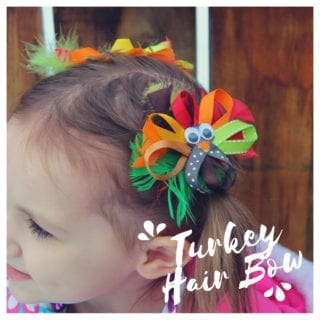 Thanksgiving Turkey Hair Bows for girls