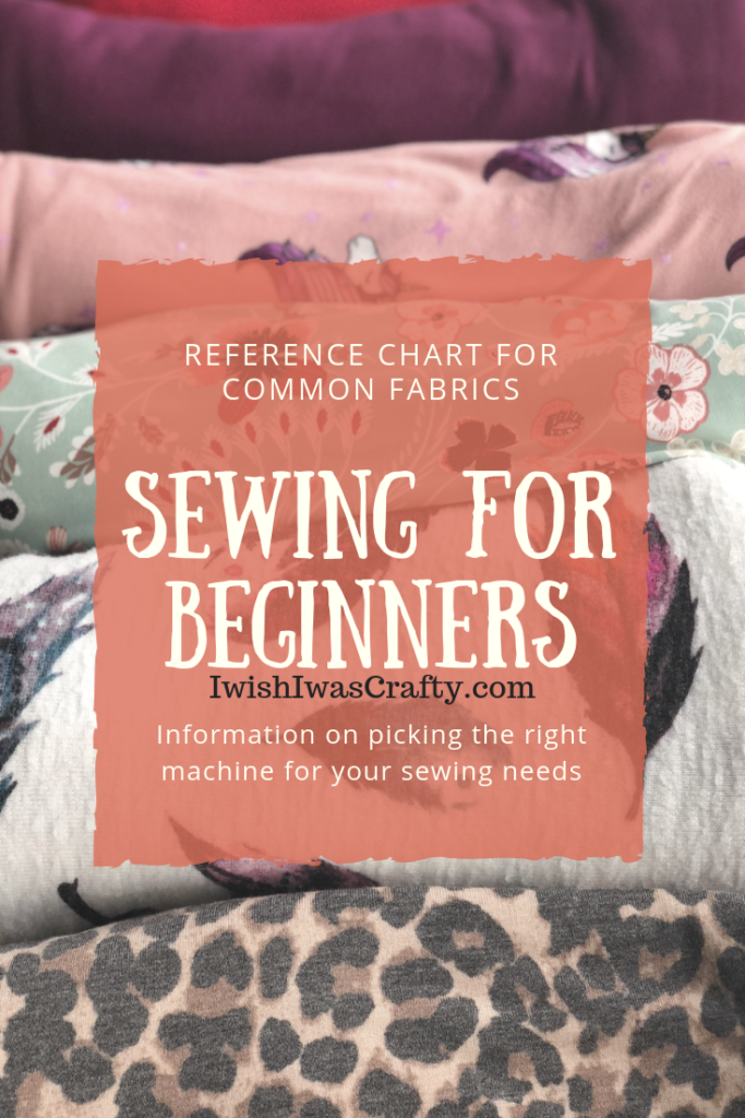 Sewing for Beginners - choosing a machine, fabric, notions and more.