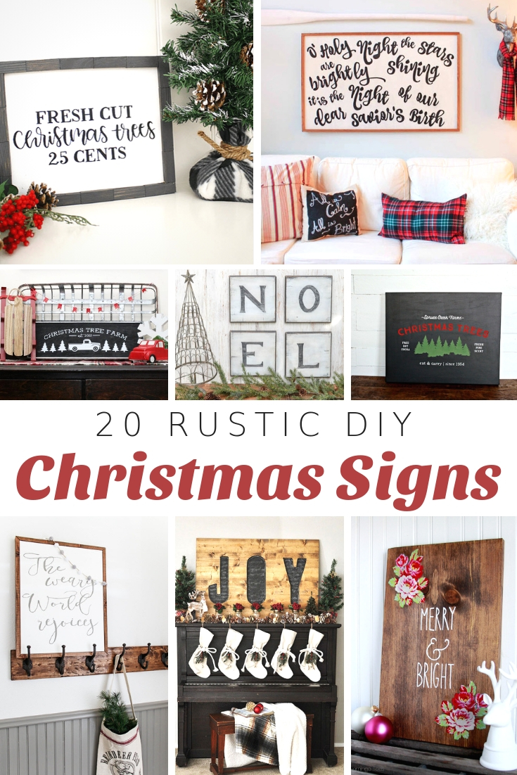 DIY Christmas Wood Signs