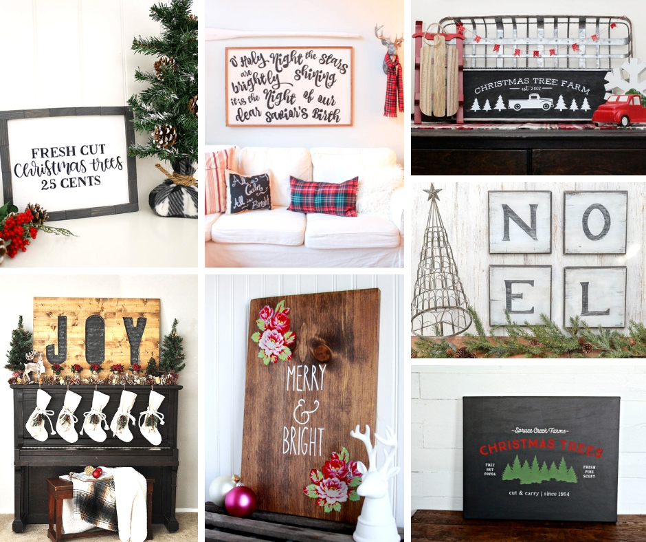 Make these Wood Christmas Signs Yourself