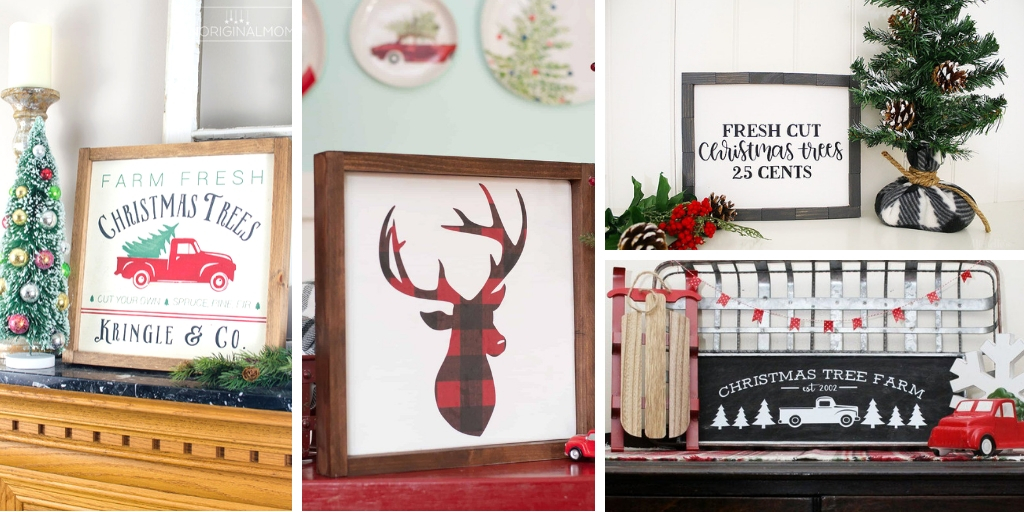 Rustic DIY Signs for Christmas