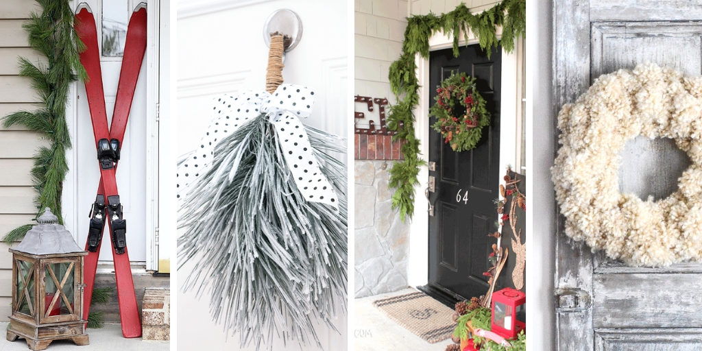 Winter designs for entryways and front doors