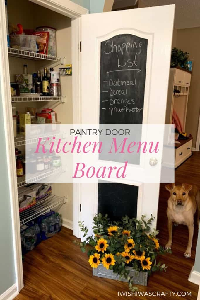 Easy DIY Pantry Door Menu Board