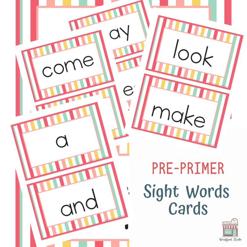 Sight Word Flashcards for games and activities