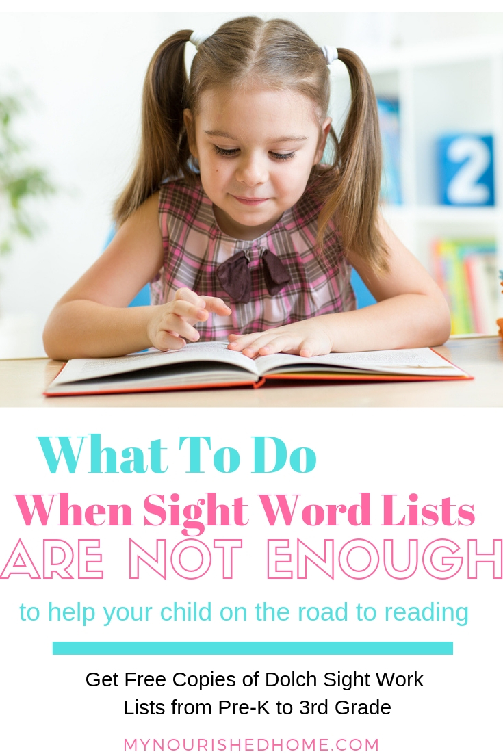 What do you do if sight word lists are not enough to get your child on the road to reading?