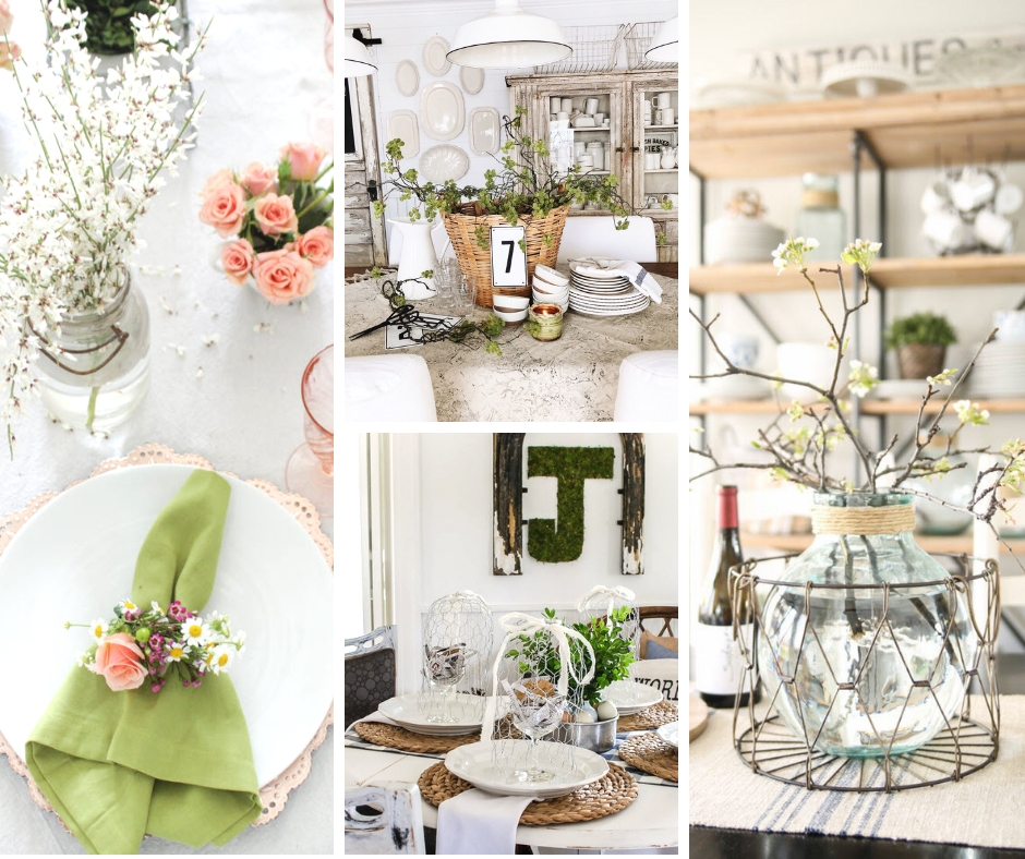 Dining room table decorations for spring