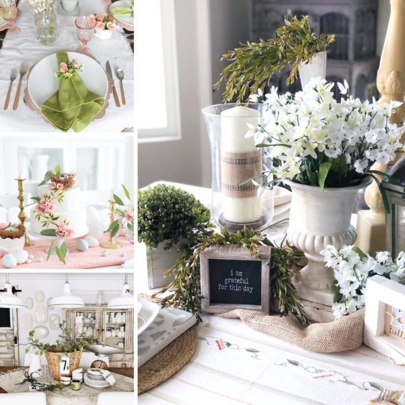 Farmhouse tablescapes for spring