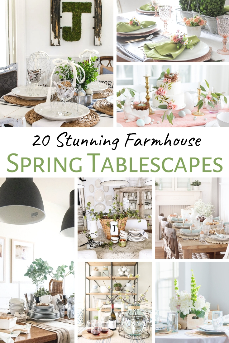 Dining Room table decor for spring!