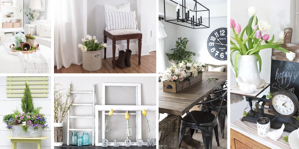 Farmhouse decor ideas for spring