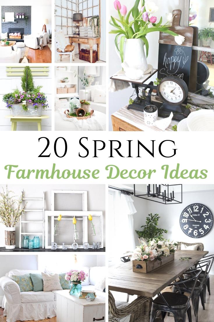 Spring farmhouse decor