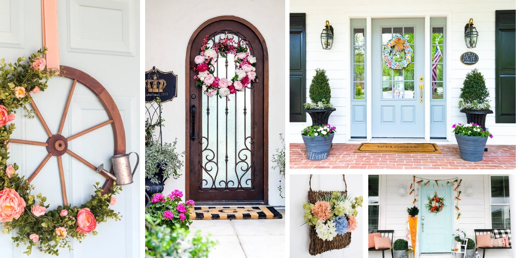 Spring Front Door wreaths