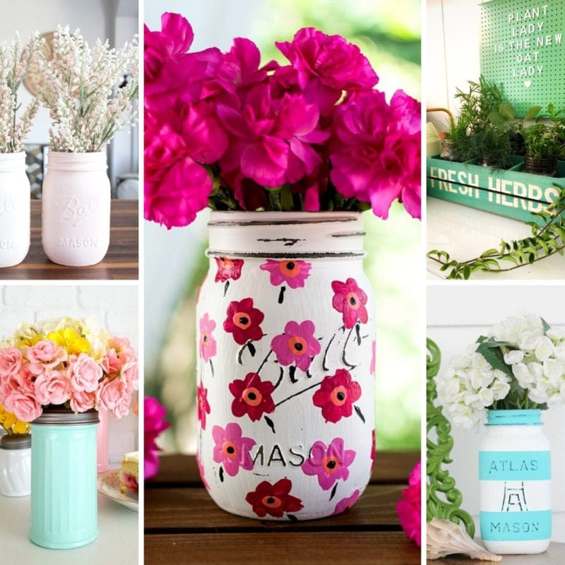Mason Jar Craft Ideas for Spring Decor