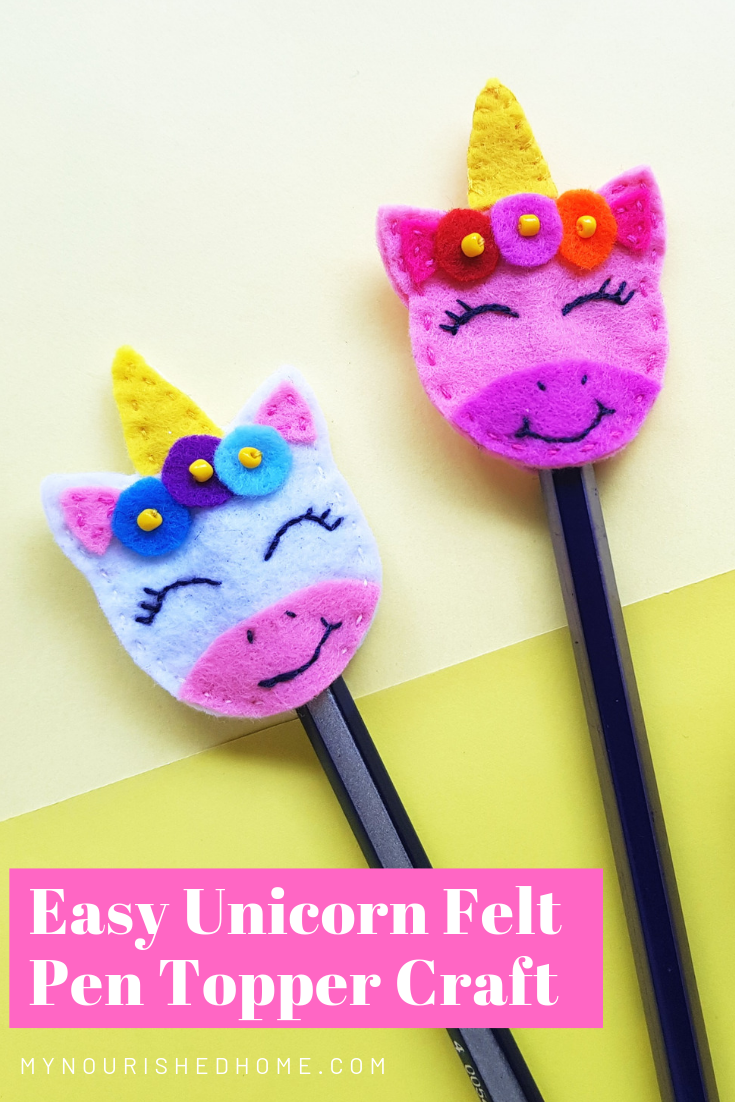 Unicorn Craft - An Easy DIY Felt Pen Topper