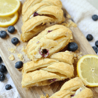 Blueberry Pastry Braid