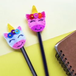 Unicorn Felt Pen Topper