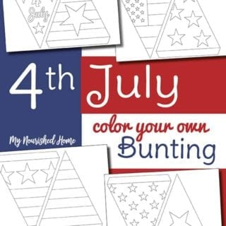 4th of July Color Your Own Bunting - MyNourishedHome.com