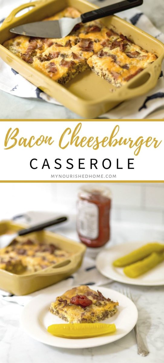 Cheeseburger Casserole Keto Approved