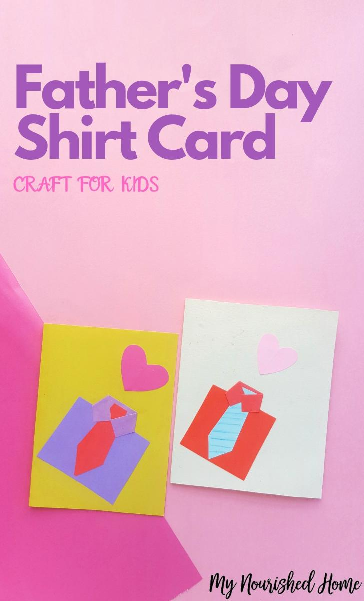 Father's Day Shirt Card Paper Craft for Kids - MyNourishedHome.com