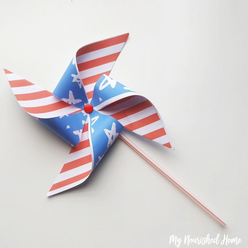 Fourth of July Pinwheel Craft for Kids