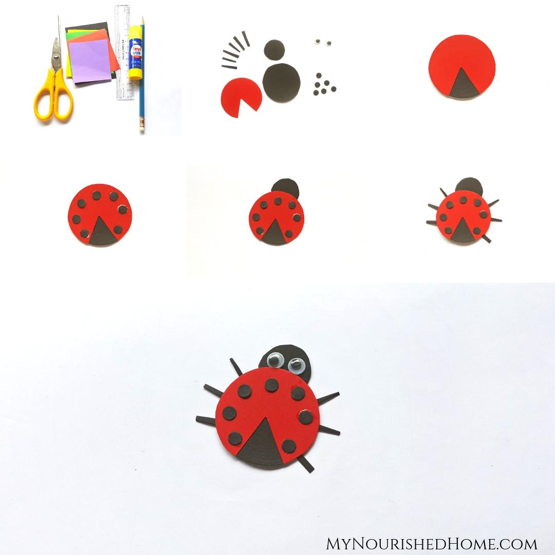 How to Make a Paper Ladybug Craft for Kids - MyNourishedHome.com