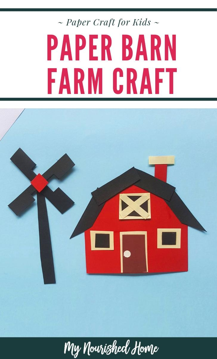 Big Red Barn! Make this barn craft for kids.