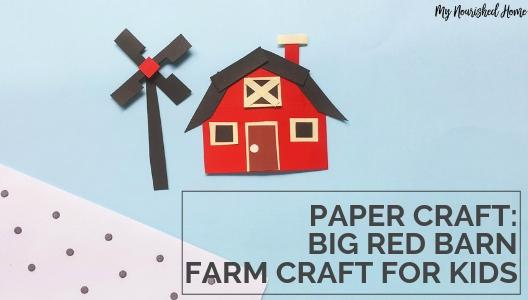 Kid's Barn Craft with supplies you already have!