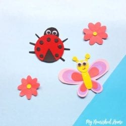 Paper Ladybug Craft for Kids - MyNourishedHome.com