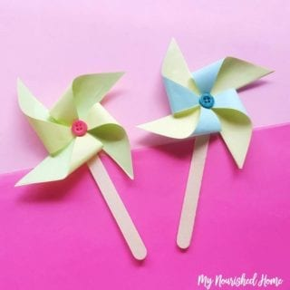 Paper Pinwheels Craft for Kids - MyNourishedHome.com