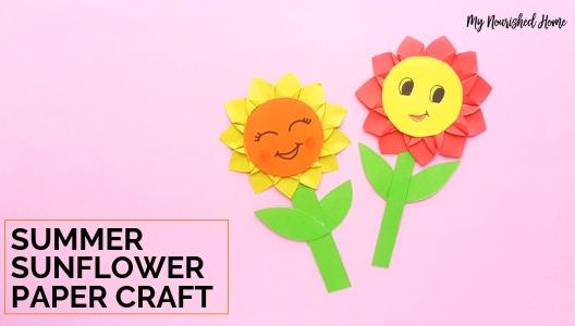 picture regarding Printable Paper Craft titled Paper Sunflower Craft for Young children My Nourished Property