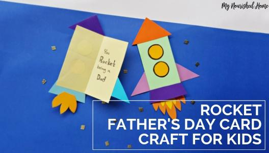 DIY Rocket Card Craft for Kids for Father's Day