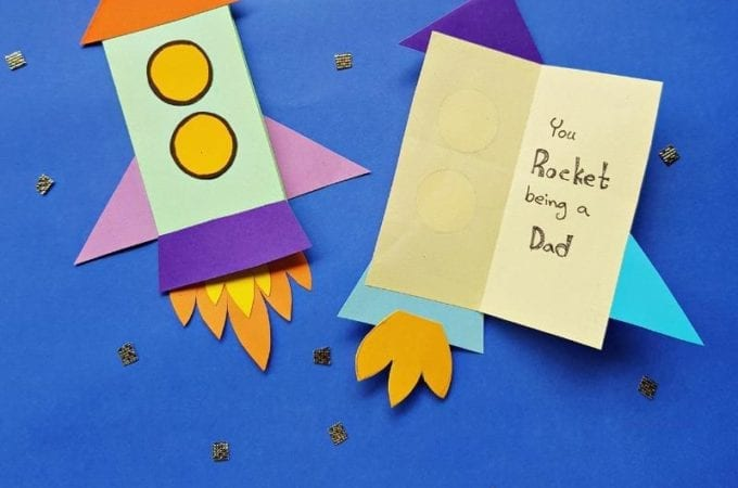 Father's Day Rocket Card Craft for Kids.