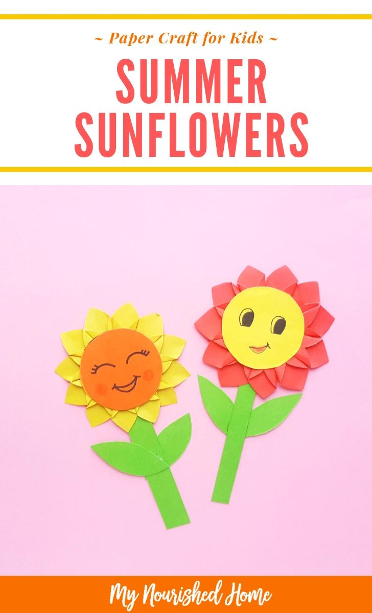 Summer Sunflowers Paper Craft for Kids - MyNourishedHome.com
