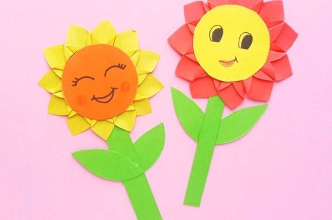 Sunflower Paper Craft for Kids