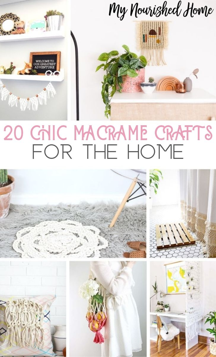 20 Chic Macrame Crafts for the Home - MyNourishedHome.com