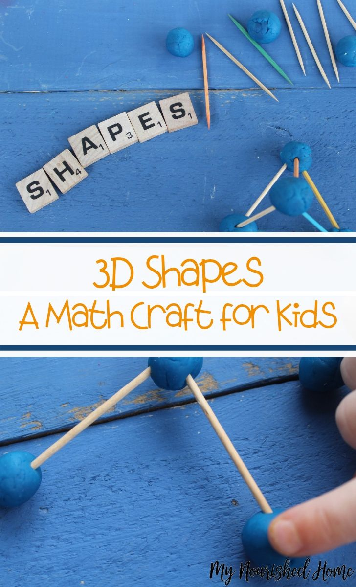 3D Shapes - A Math Craft for Kids - MyNourishedHome.com