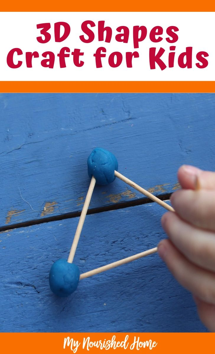 3D Shapes Craft - a Math Craft for Kids - MyNourishedHome.com