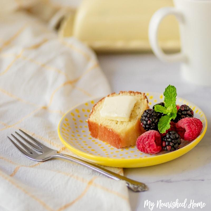 Almond Butter Cake Recipe - MyNourishedHome.com