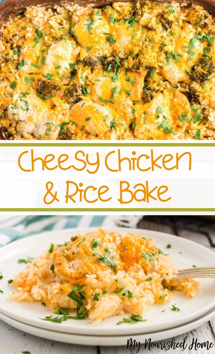 Cheesy Chicken and Rice Bake Recipe for Busy Nights - MyNourishedHome.com