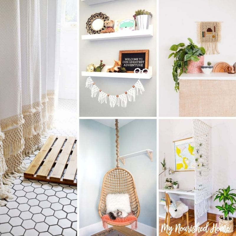 Chic Macrame Crafts for the Home - MyNourishedHome.com